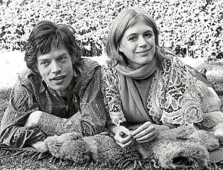 Mick Jagger y Marianne Faithfull