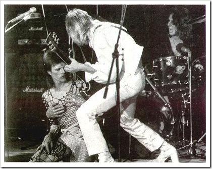 David Bowie y Mick Ronson