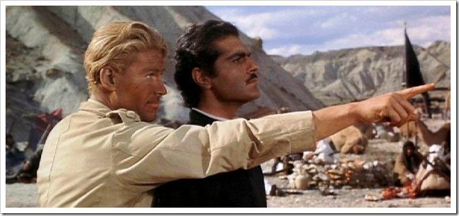 Peter O'Toole y Omar Sharif