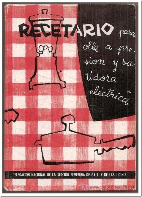 Recetario para olla a presión y batidora eléctrica