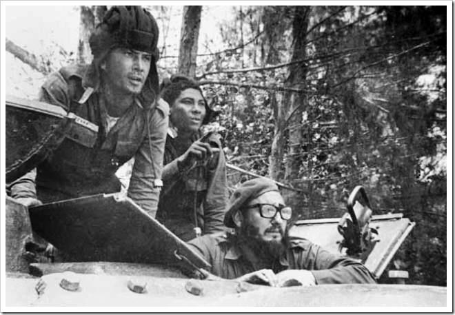 Castro dirigiendo las operaciones