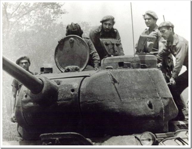 Castro con las tropas