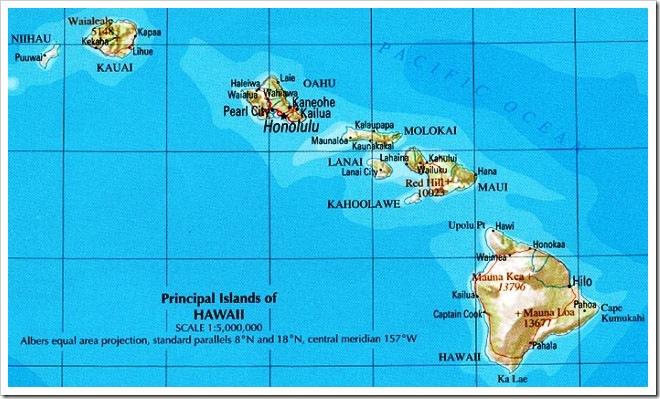 Mapa Islas Hawaii