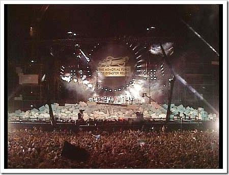 Imagen del concierto en Berlín (1990)