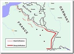 Mapa Líinea Maginot