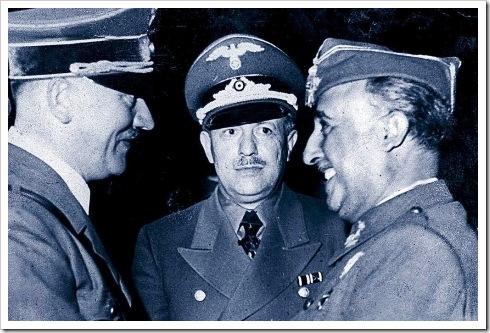 Hitler y ranco en Hendaya