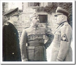 Serrano Suñer, Franco y  Mussolini