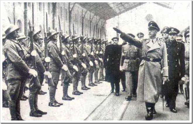 Himmler en la Estacion del Norte, Madrid