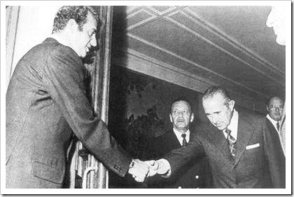 Arias Navarro con el rey