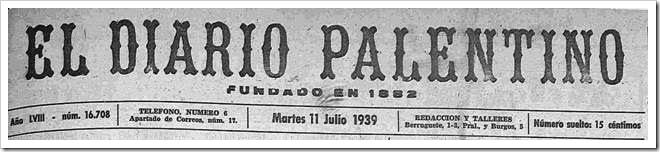 Cabecera de El Diario Palentino