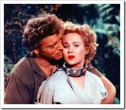 Burt Lancaster y Virginia Mayo