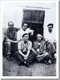 Besteiro y otros reclusos en Carmona