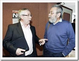 Los líderes de CCOO y UGT