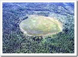 Posible cráter en Tunguska