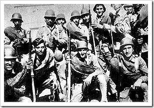 Milicianos a las órdenes de Bayo