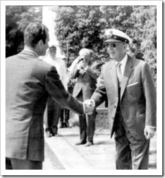 Franco y el entonces príncipe en el Pazo, agosto 1969