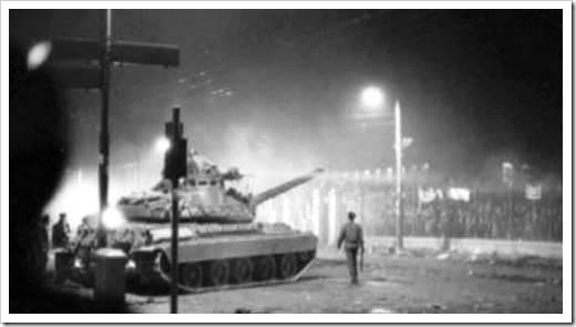Grecia tanque en Atenas, 1973