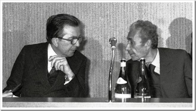 Giulio Andreotti y Aldo Moro, 27 febrero 1978