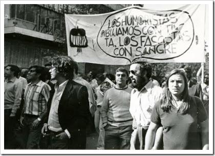 Manifestación apoyo a El Papus