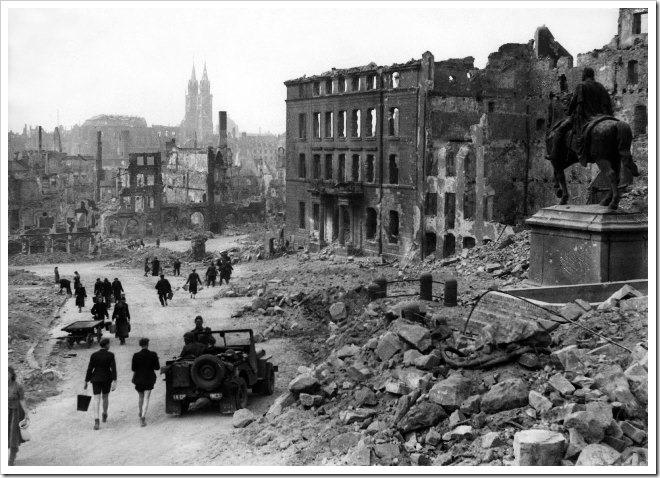 Nuremberg en ruina, 1945