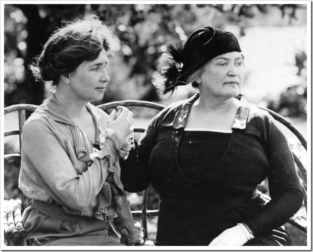 Helen Keller y Ann Sullivan