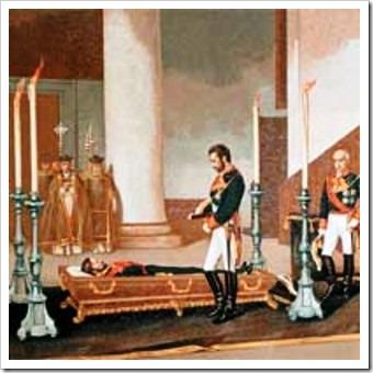 Amadeo de Saboya en el Velatorio de Prim
