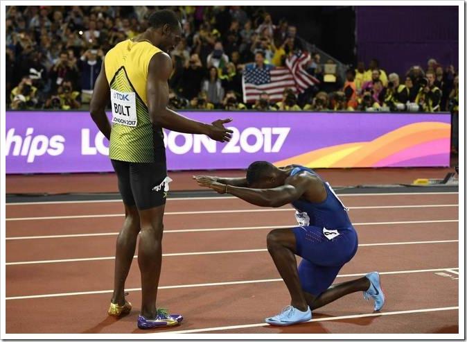 Bolt y Gatlin